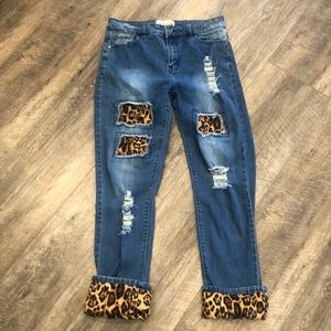 Leopard print jeans L&B lucky and blessed